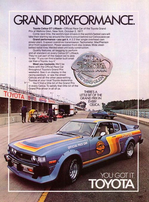 1977 Celica GT   Official Pace Car Of The Toyota Grand Prix