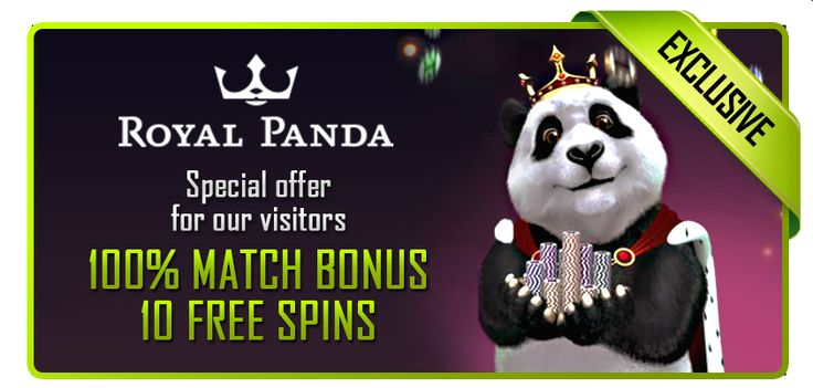 100% up to $/€150 + 10 Free Spins on your first deposit at Royal Panda Casino! http://bit.ly/1tWlxZI