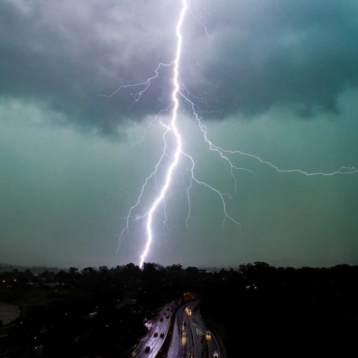 Canberra is battered by winds of nearly 100 kilometres per hour, causing power outages and bringing down dozens of large trees across the territory.