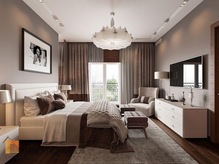 Фото интерьер спальни из проекта «Дизайн интерьера трехкомнатной квартиры 127 кв.м., ЖК «Парадный квартал», современный стиль»