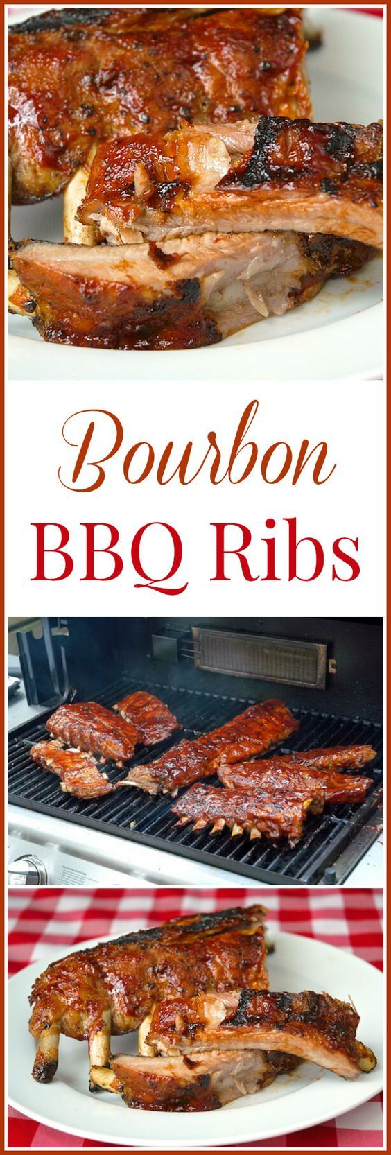 Bourbon Barbecue Ribs - Some tender, succulent ribs with a homemade Bourbon Barbecue Sauce.