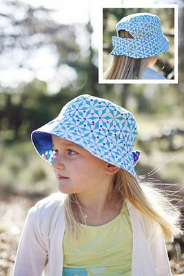 DIY adjustable bucket hat. Perfect for Missy Moo.