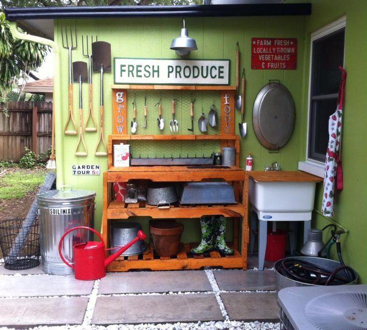25 Best Ideas About Potting Station On Pinterest: 25+ Best Ideas About Pallet Potting Bench On Pinterest