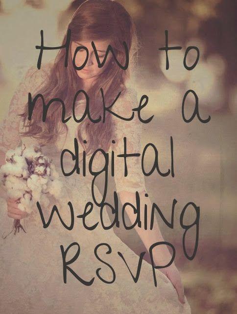 Create your own customized digital wedding RSVP website