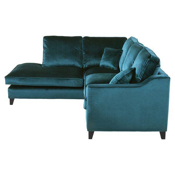 Madison Velvet Corner Sofa Blue Corner Sofas Corner Sofa Velvet Corner Sofa