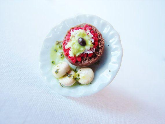 Tradiotional Greek Food   Ntakos - Dakos With Side Cheese Slices Miniature Ring