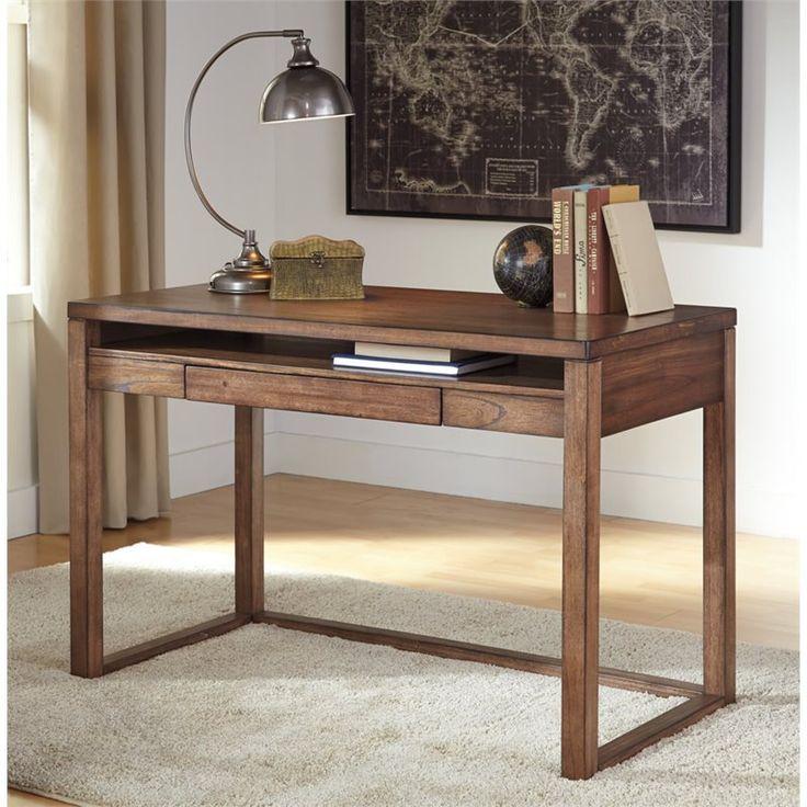 ashley baybrin laptop desk in rustic brown