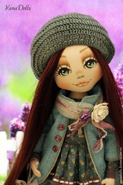 Айрин - тёмно-бирюзовый,кукла,кукла ручной работы,кукла в подарок,кукла текстильная
