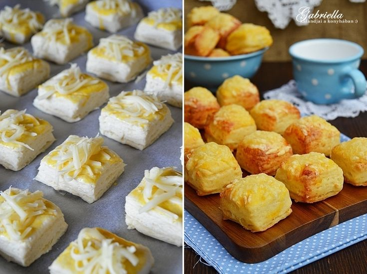 Hajtogatott sajtos-túrós pogácsa