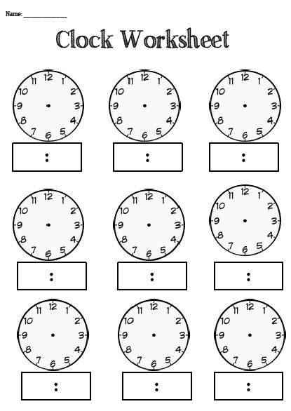 Clock Worksheet- BLANK --- This is a one page resource that teachers/ educators can use to teach their students about time. It is blank to enable you to select the times that you would like your student/child to focus on! Enjoy Coconut Ideas #reachingteachers