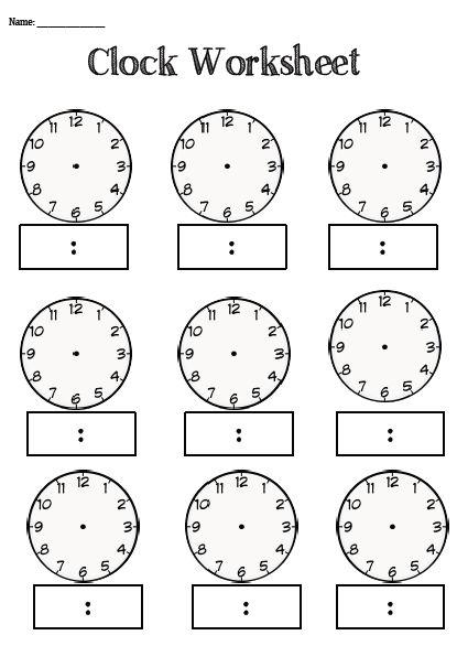 Best 25+ Clock worksheets ideas only on Pinterest | Teaching clock ...