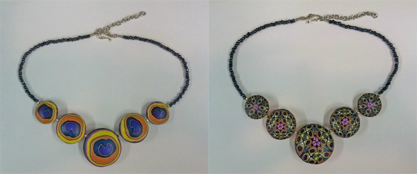 Reversible necklace by Boston Baked Beads