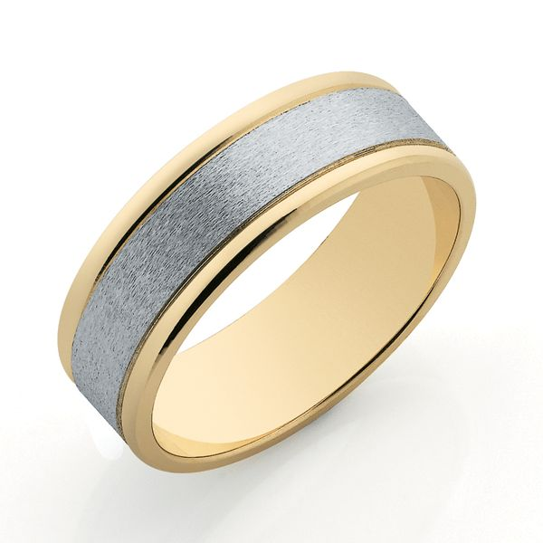 9ct & White Gold 7mm Band