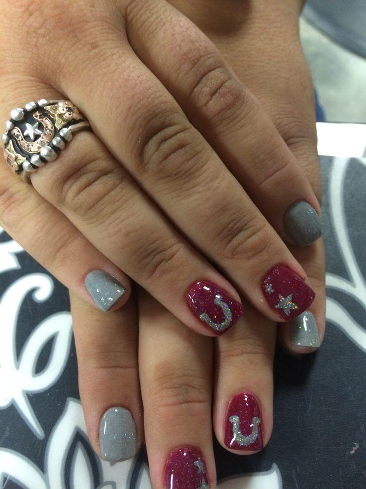 Acrylic Nails #NailsBySeana  #CuteNails #Western #Plum