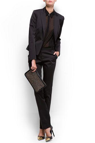 Mango Saint Finish Blazer, $119.99, available at Mango; Suit Trousers, $69.99, available at Mango.