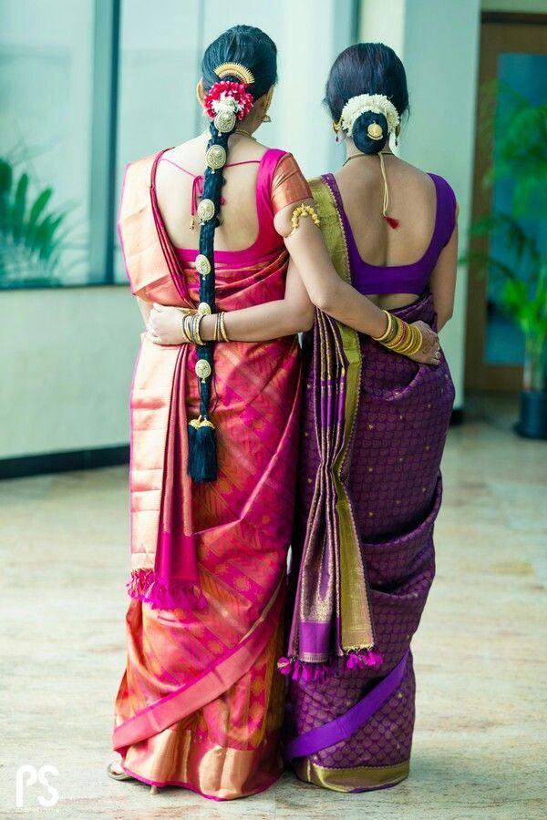 getting ready for wedding..   south indian wedding hair accessories pattu saree,