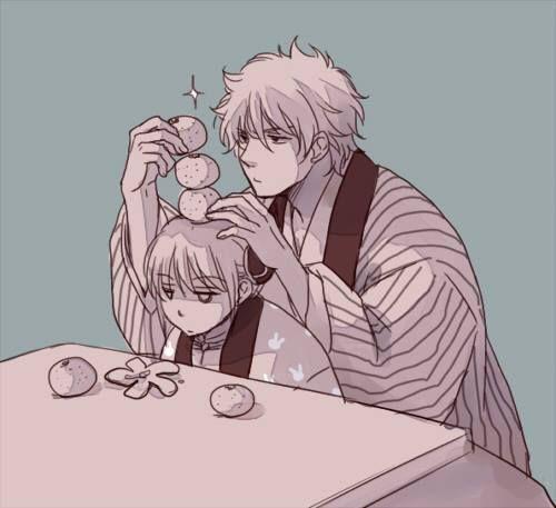 Anime: Gintama Personagens: Sakata Gintoki e Kagura