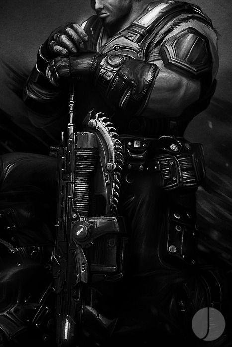 John Aslarona, FENIX - Lancer Assault Rifle Detail Gears Of War...