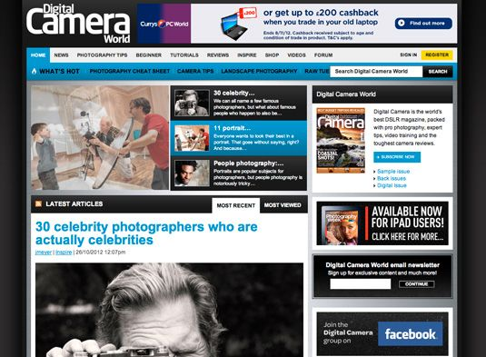 10 top photography resources—Are you into Photography? Or want to develop your skills behind the lens? Then check out these top online resources.