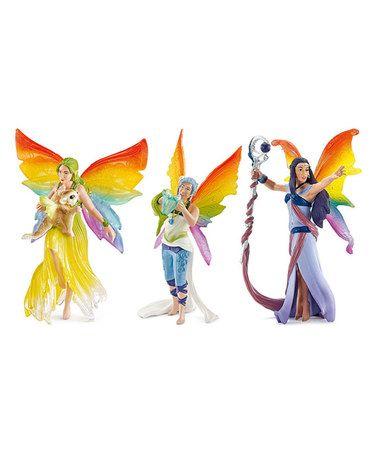 Look at this #zulilyfind! Rainbow Bayala Figurine Set #zulilyfinds