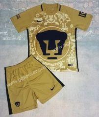 2016-17 Pumas UNAM Home Yellow  Soccer Uniform