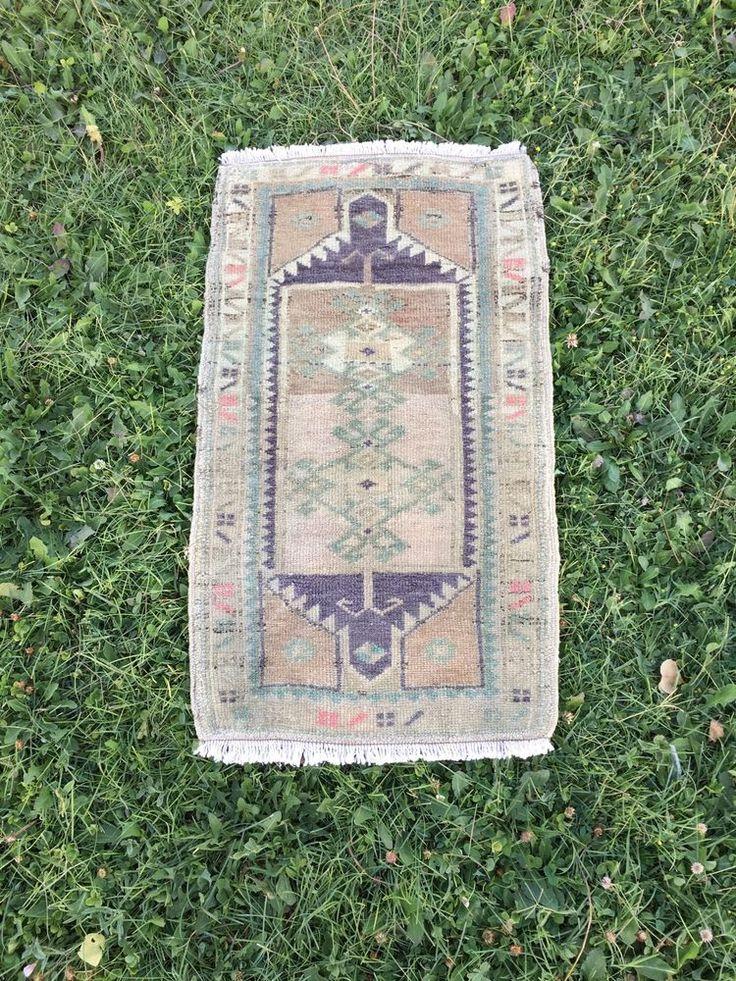 "DISCOUNTED!Midcentury Modern Vintage Handmade Turkish Ushak Yastik Rug 1'6""x2'8"" | Home & Garden, Rugs & Carpets, Door Mats & Floor Mats | eBay!"