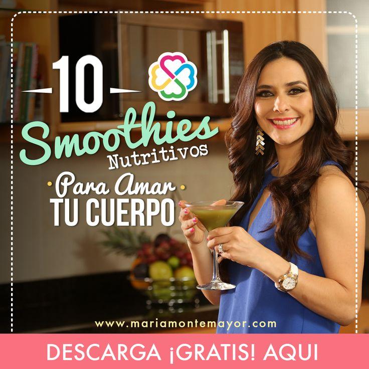 ¡¡Holaaaa!!!! ¿Ya descargaste mi nuevo recetario GRATIS: 10 smoothies nutritivos para amar tu cuerpo? Está bruto!!! Lo único que tienes que hacer es hacer click en el liga y registrarte: https://mariamontemayor.leadpages.co/10-smoothies-nutritivos/