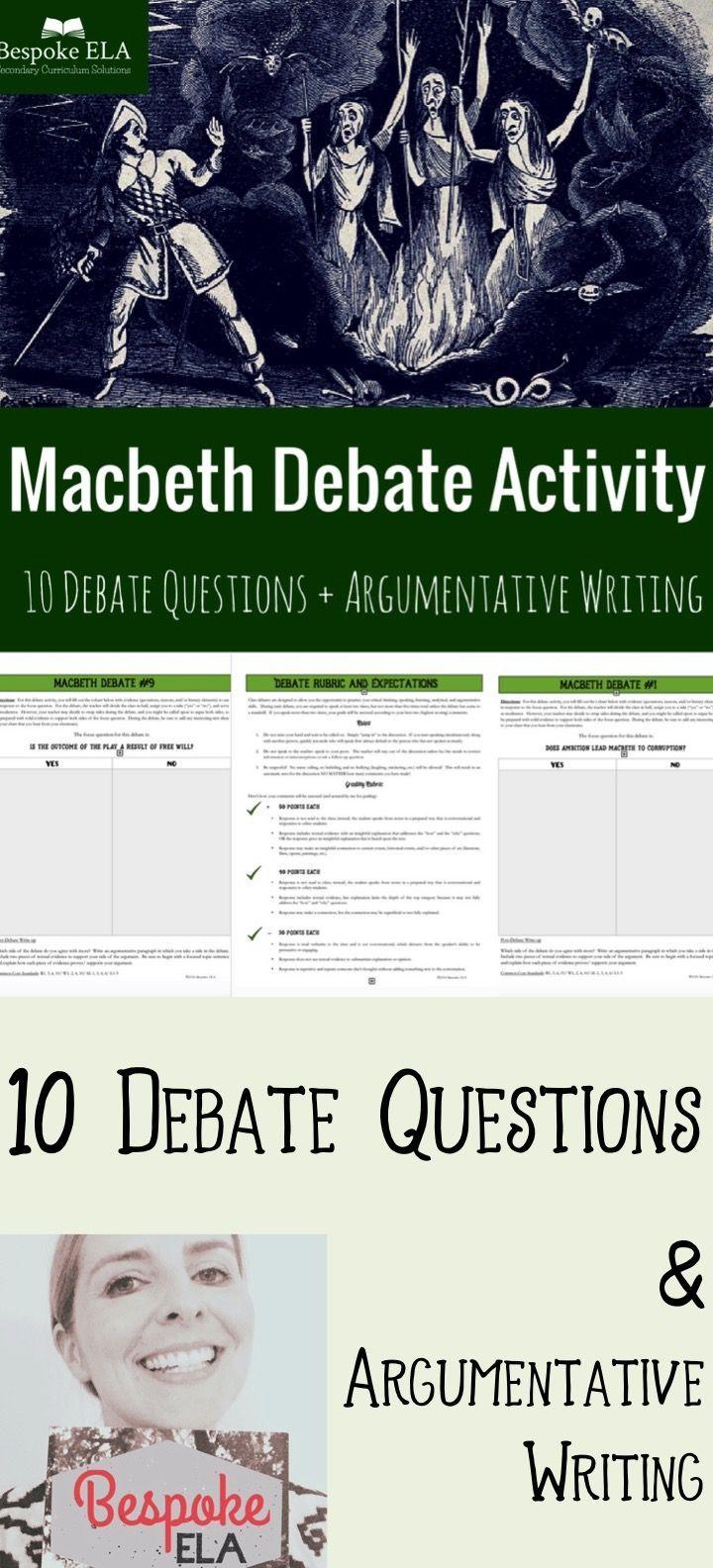 Macbeth writing assignments script