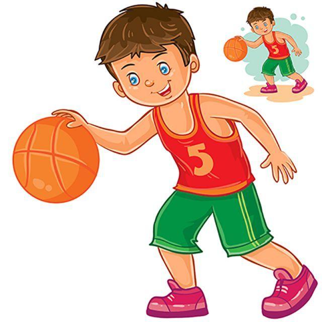 ناقلات طفل صغير يلعب كرة السلة Hinh Minh Họa Bai Tập