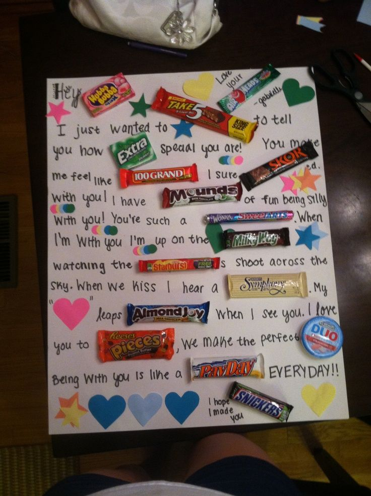 chocolate bar love letter - Google Search