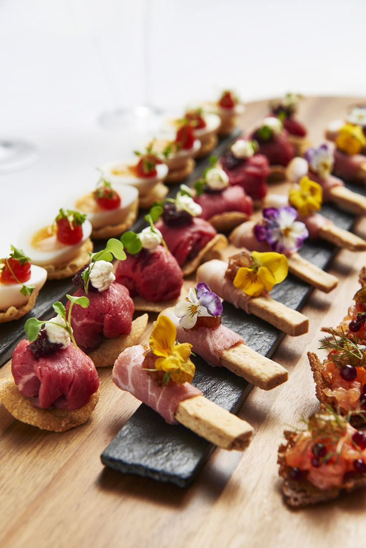 CANAPES - 2015 awards canapes created by Head Chef at BAFTA 195