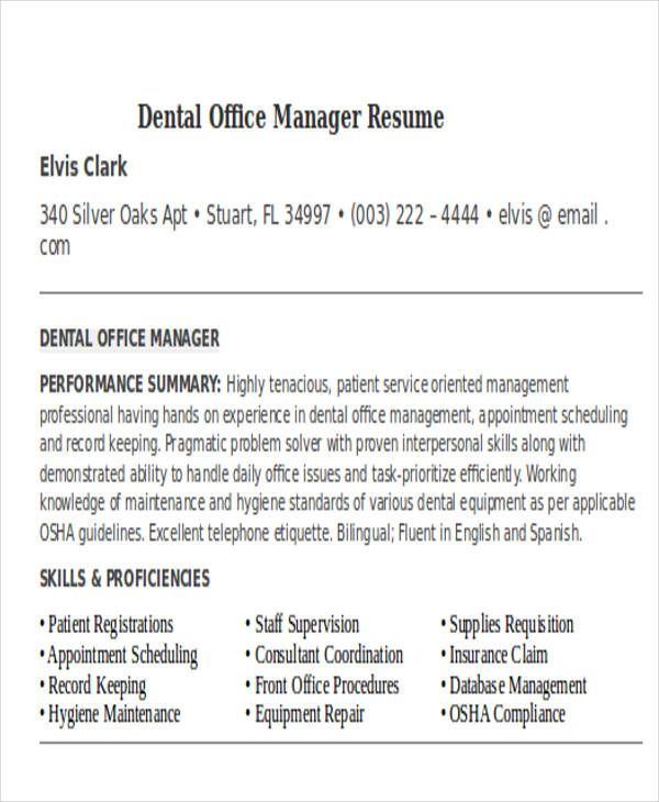 Medical Assistant Resume Example Office Manager Resume Medical