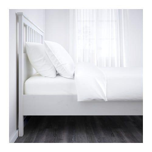 Hemnes Rama łóżka Biała Bejca Wnętrza łóżka Hemnes I