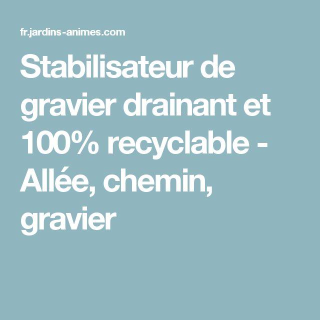 Stabilisateur de gravier drainant et 100% recyclable - Allée, chemin, gravier