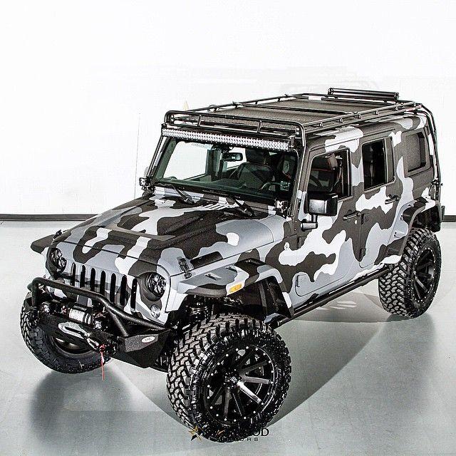 camo look. #starwoodmotors #jeep