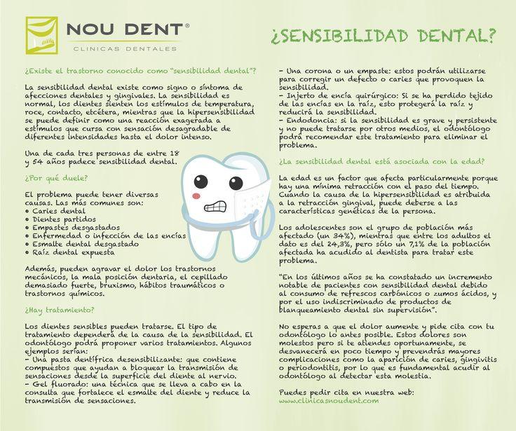 ¿Existe la sensibilidad dental? Os dejamos un breve resumen del porqué duelen los dientes la mayoría de veces. En Clínicas Nou Dent nos preocupamos por su salud.