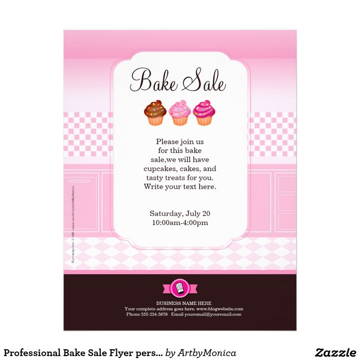 10 Best Bake Sale Flyer Ideas Images On Pinterest | Bake Sale