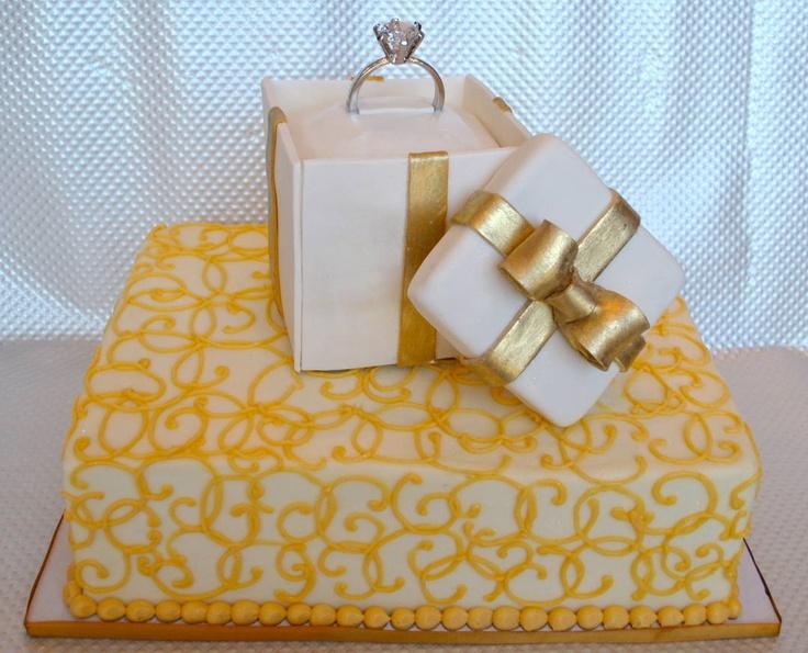 Ring Box Cake Beautiful cakes!! Pinterest Wedding ...