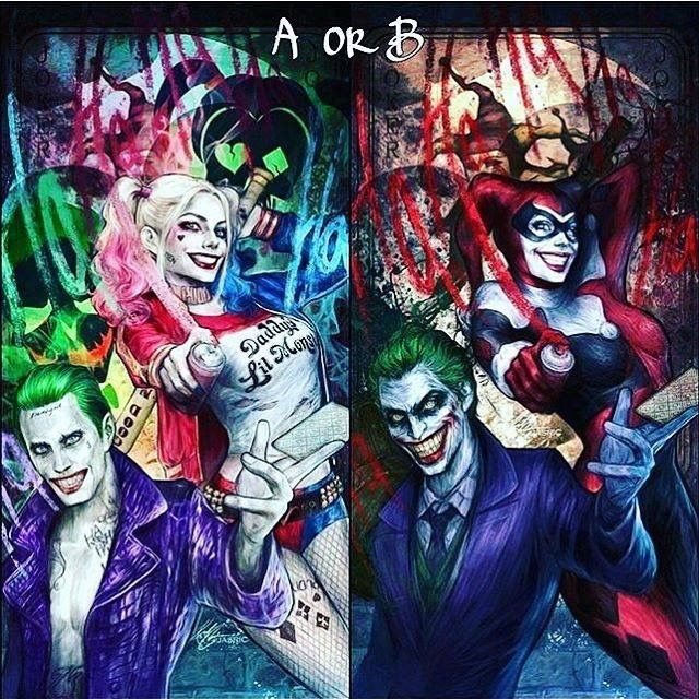 Joker and Harley Quinn past and present
