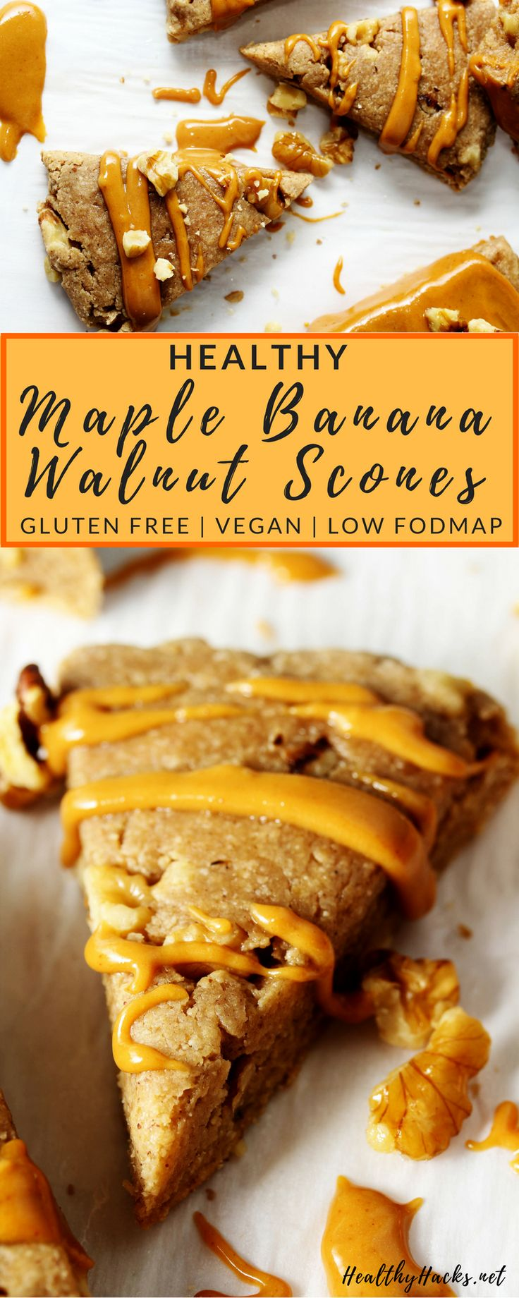 Skip the Starbucks line and make these easy healthy Maple Banana Walnut Scones a…