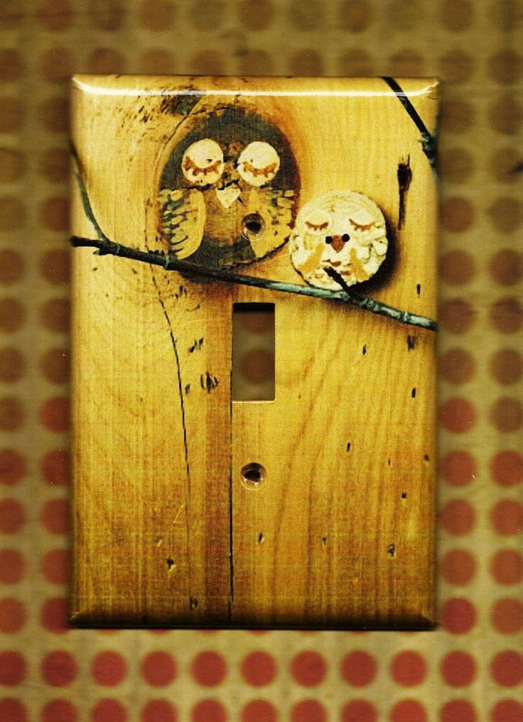 Save the Owls Switchplate cover by TurnMeOnArt on Etsy. $11.00, via Etsy.