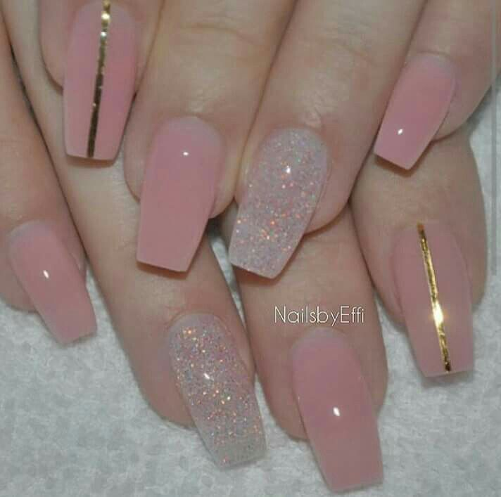 Best 25+ Pink nails ideas on Pinterest | Glitter nails ...