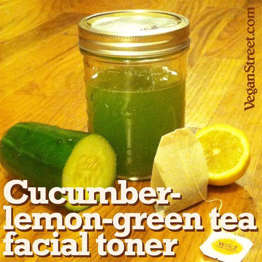 Cucumber-lemon-green tea facial toner