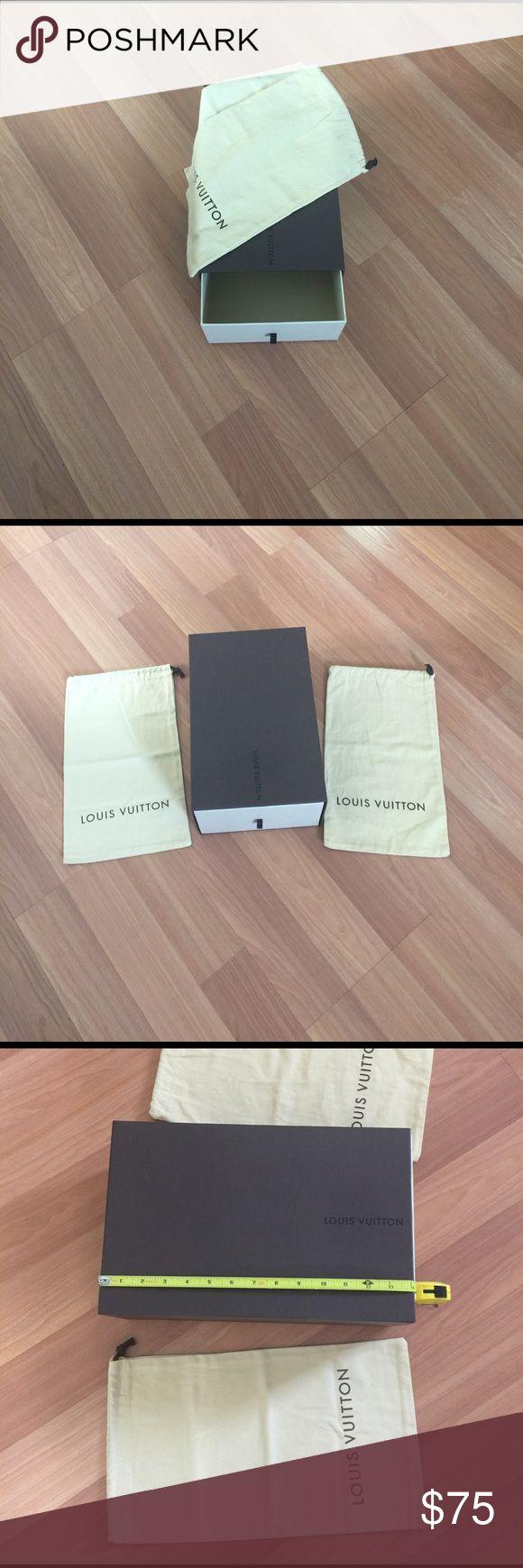 AUTHENTIC LOUI VUITON SLIDING SHOE STORAGE BOX AUTHENTIC LOUI VUITON EMPTY SLIDING SHOE STORAGE BOX WITH 2 DUSH BAG EXCELLENT CONDITION Louis Vuitton Accessories