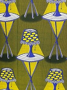 Vlisco Block Wax - I Love Lamp