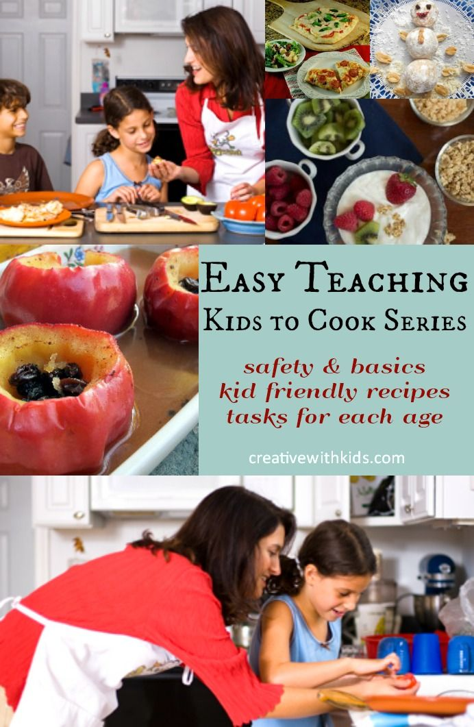 Create confident cooking kids with these safety and basic recipe tasks for all ages