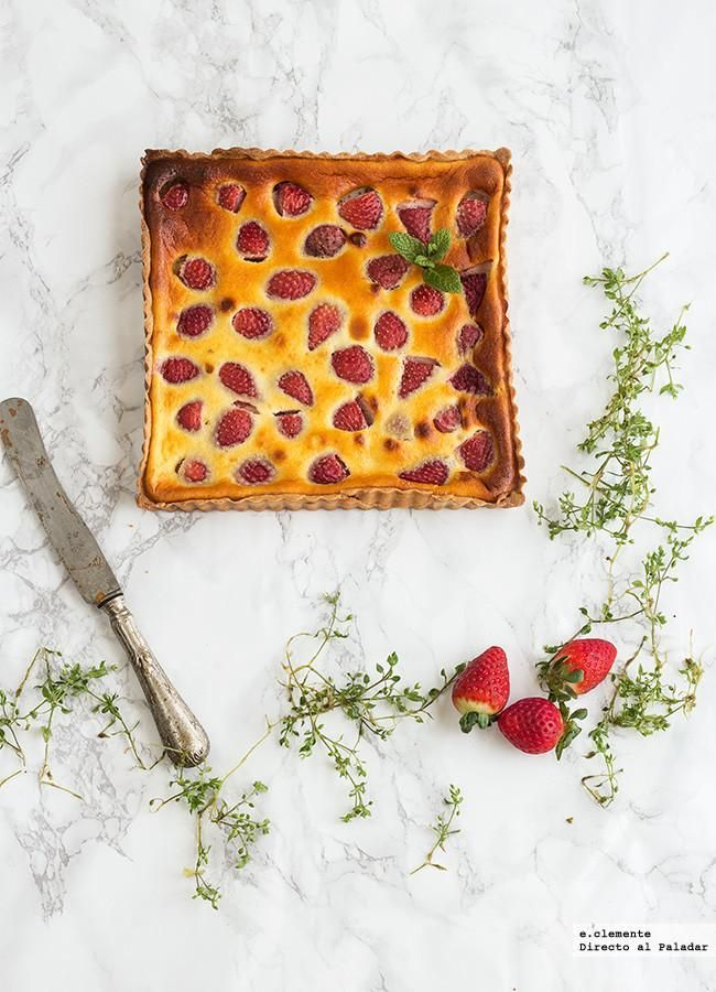 Directo al Paladar - Tarta de fresas y yogur. Receta