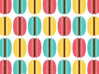 Greca de #macarons: Macaron Patterns, Macaroon, Patterns Illustrations, Textiles Patterns, Sweet Patterns
