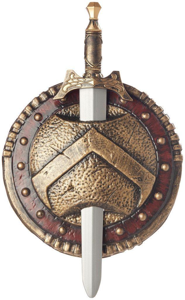 Spartan Combat Shield and Sword