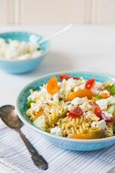 Griekse pasta salade